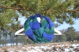 Oneindige sjaal Blauw/Groen