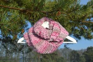 ronde sjaal roze